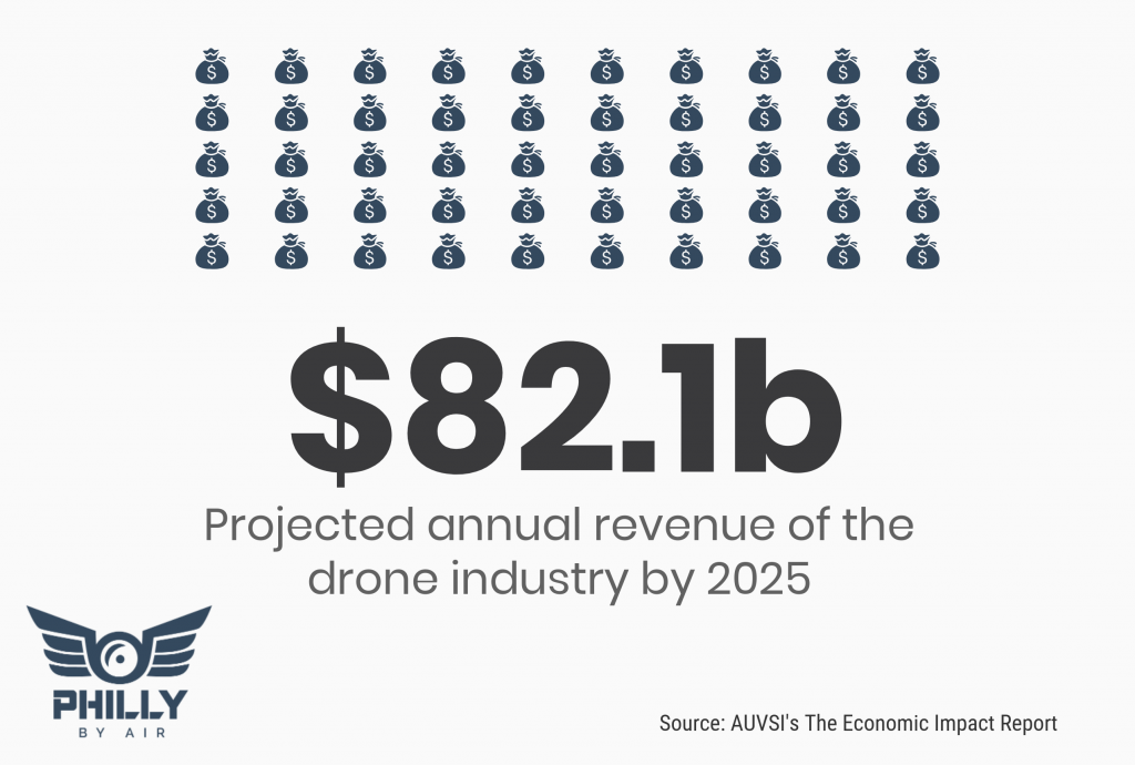 Revenue of Drone Industry